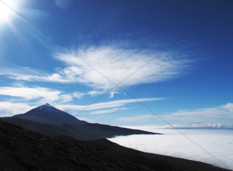 Mountain Skyline Ministry Stock Photo
