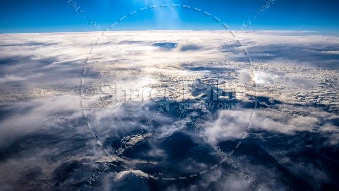 Planet Earth from Above Religious Stock Photo