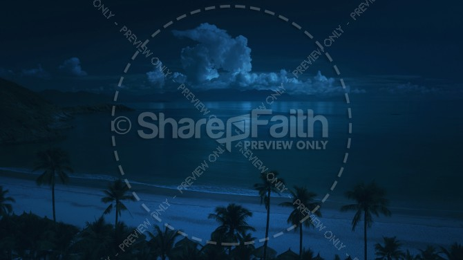 Tropical Storm Clouds at Night Ministry Stock Photo