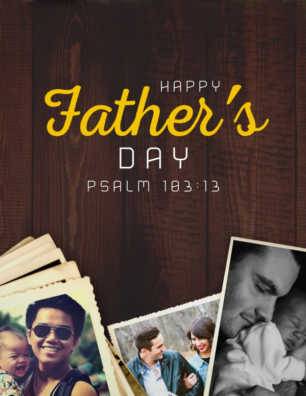 Father's Day Photo Church Flyer