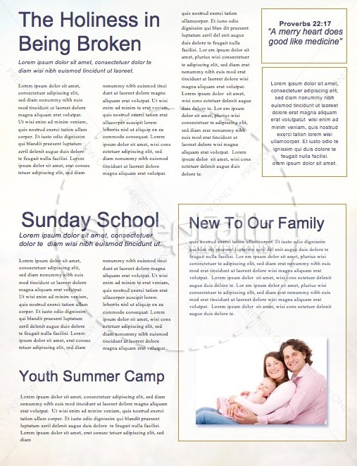 Father's Day Beach Walk Church Newsletter
