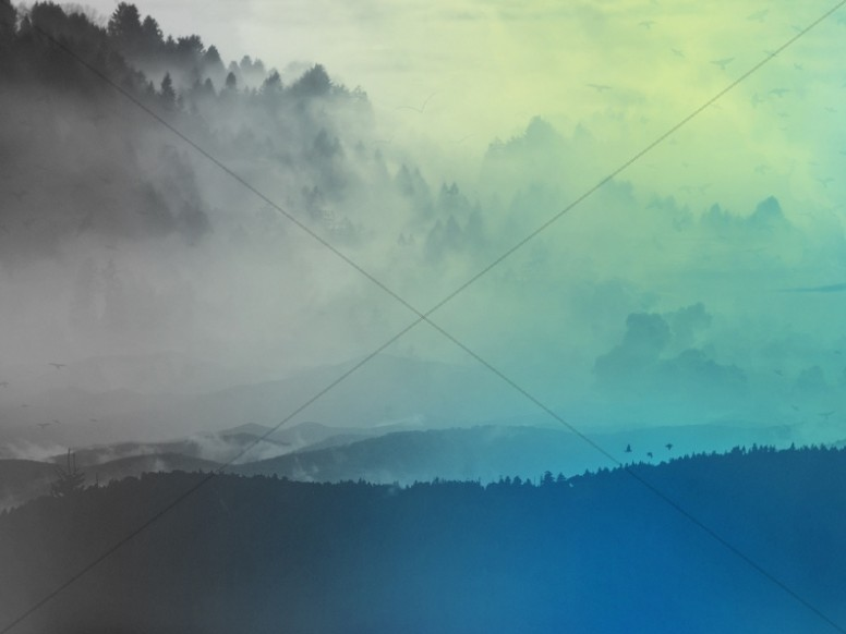 Foggy Mountains Church Worship Background