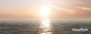 Sunrise Over the Ocean Triple Wide Worship Video Loop