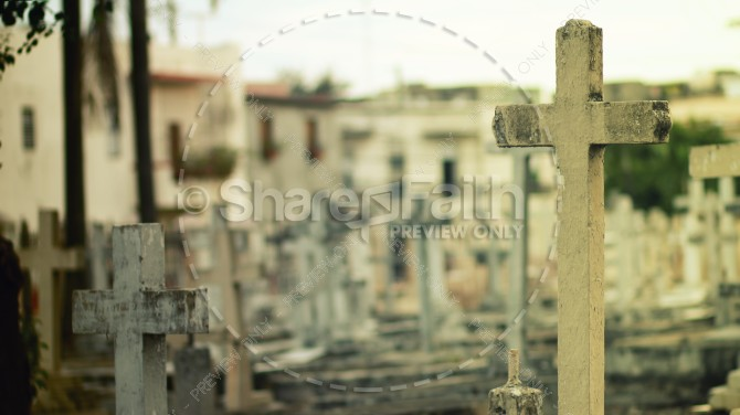 Cross Grave Marker Religious Stock Photo
