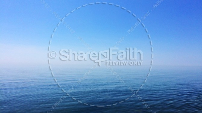 Blue Ocean and Sky Religious Stock Photo