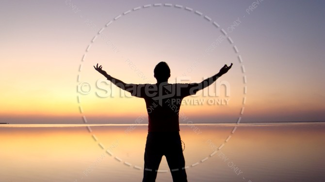 Worship Silhouette Religious Stock Photo
