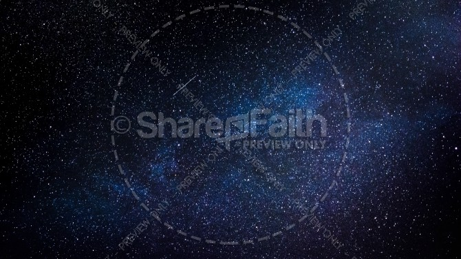 Stars in the Night Sky Religious Stock Image