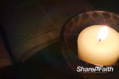 Candle Light Bible Reading Worship Video Loop