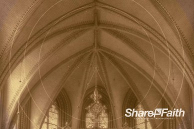Circle Rings Cathedral Worship Video Loop