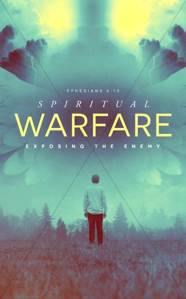 Spiritual Warfare Church Bulletin Cover