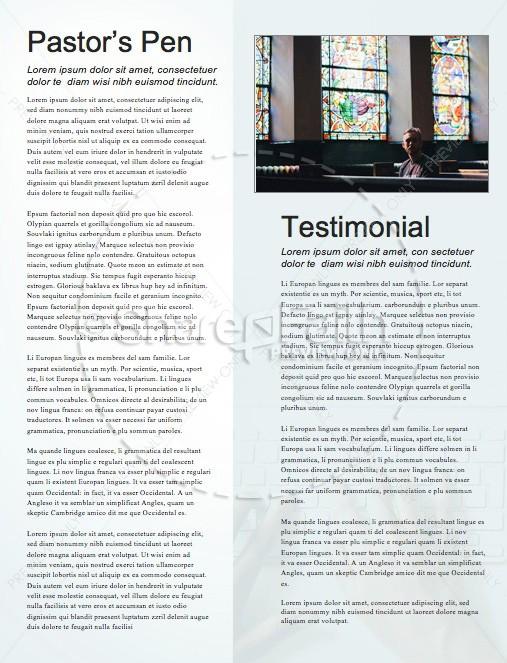 Your Work Matters Church Newsletter Template