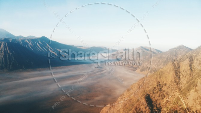 Fog Rolling Through the Hills Religious Stock Photo