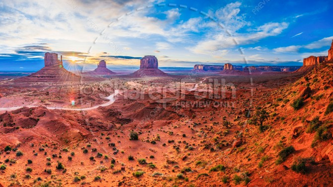 Desert Rock Formation Religious Stock Photo