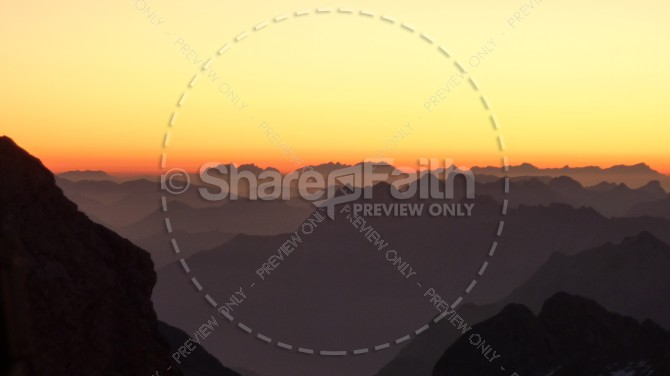 Dark Rolling Hills Religious Stock Photo