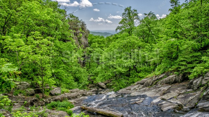Forest Hills Creek Religious Stock Photo