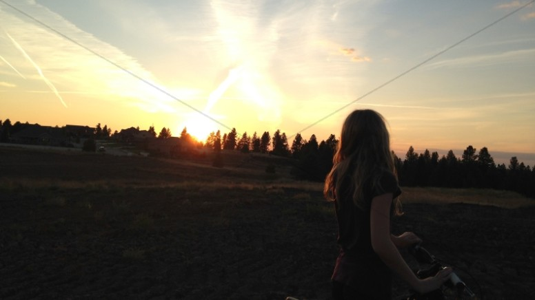 Chasing the Sunset Christian Stock Photo