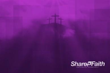 Geometric Cross at Calvary Worship Video Background