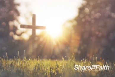 Cross in Grassy Field Worship Video Background