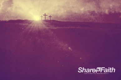 Crosses on Calvary Worship Video Background
