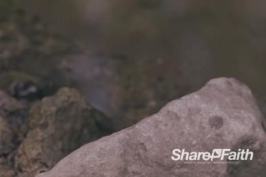 Rocks on the Lake Shore Worship Motion Background