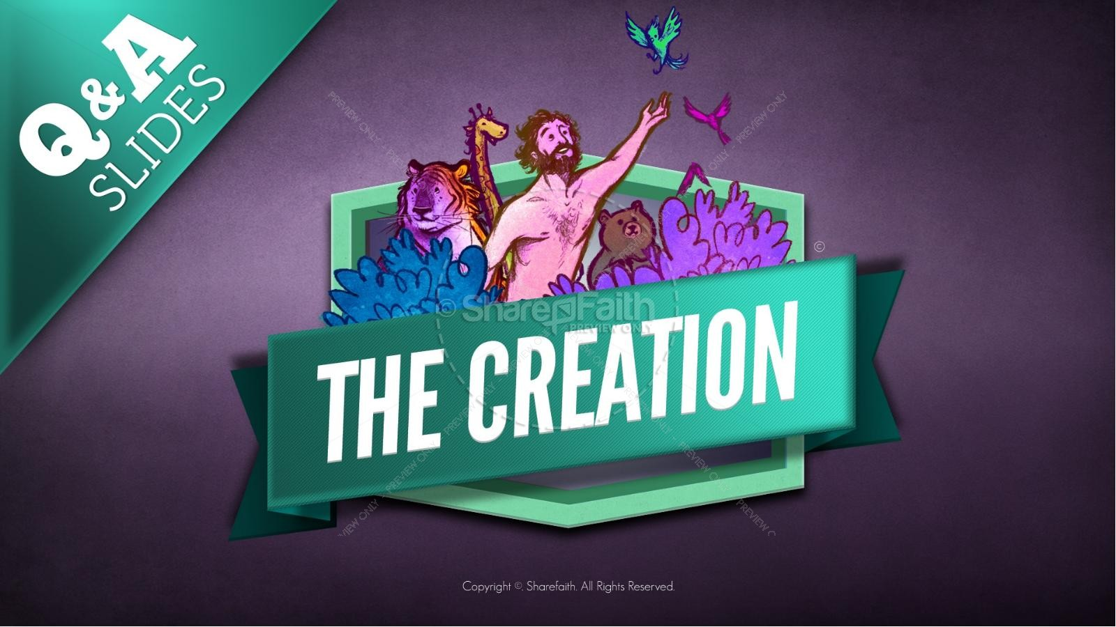 The Creation Story Kids Bible Lesson | slide 11