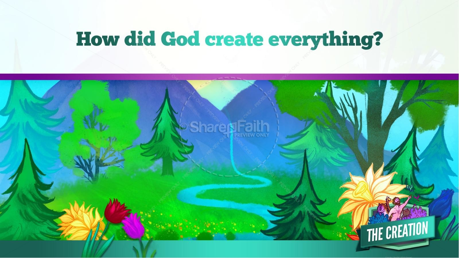 The Creation Story Kids Bible Lesson | slide 17