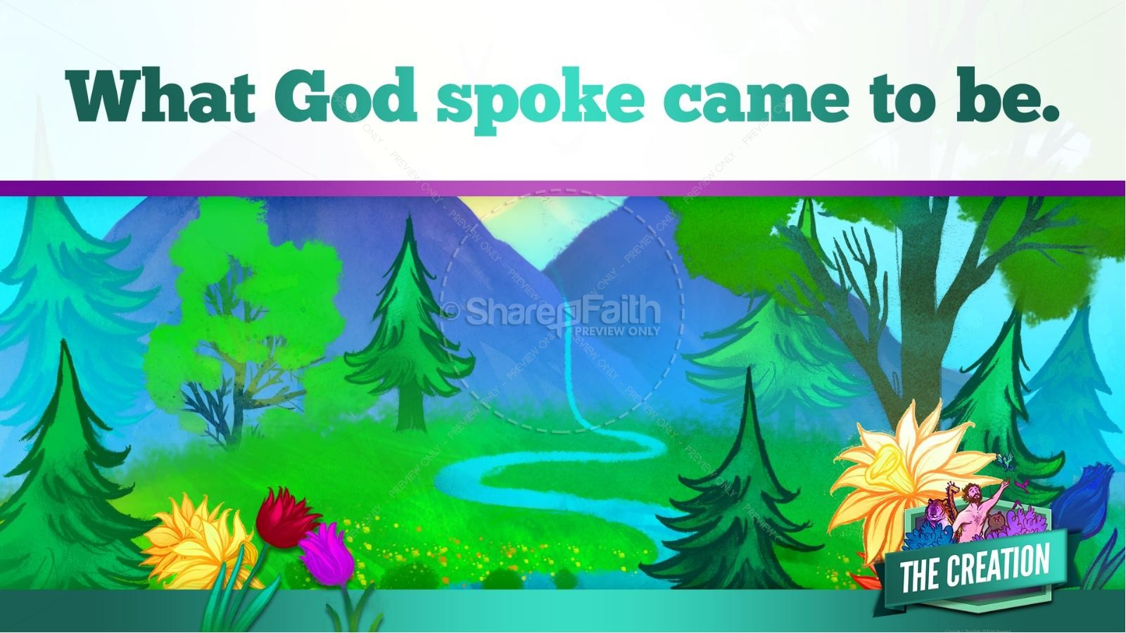 The Creation Story Kids Bible Lesson | slide 18