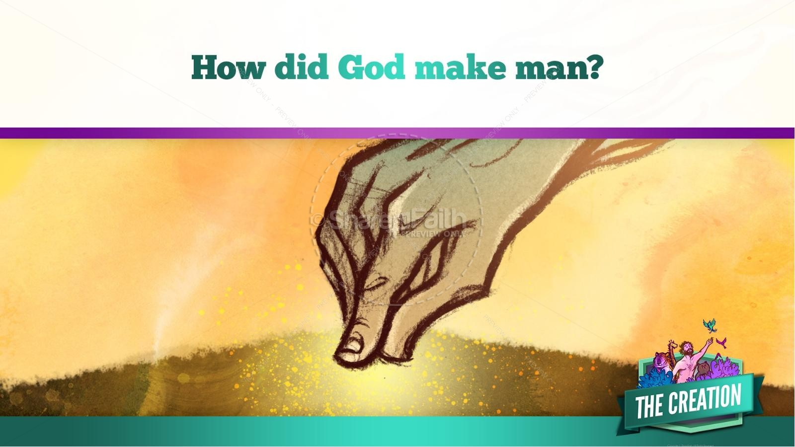 The Creation Story Kids Bible Lesson | slide 21