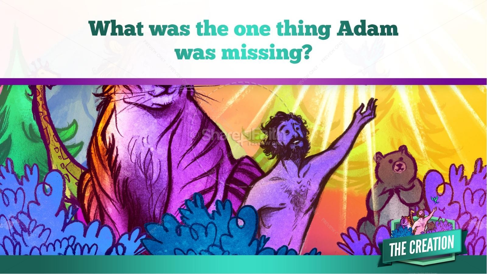 The Creation Story Kids Bible Lesson | slide 25