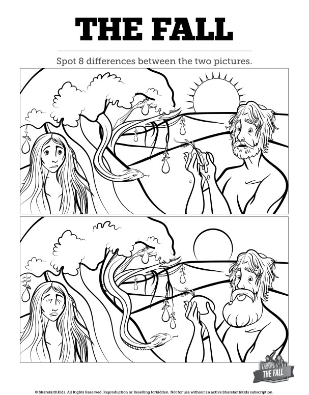 The Fall Of Man Kids Spot The Difference