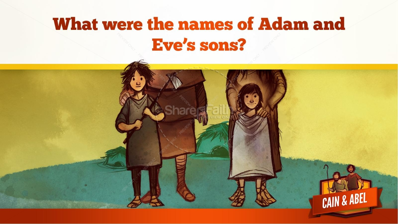 Cain And Able Kids Bible Lesson