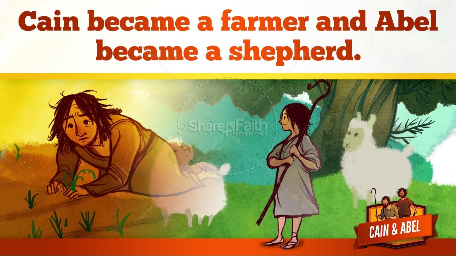 Cain And Able Kids Bible Lesson | slide 20