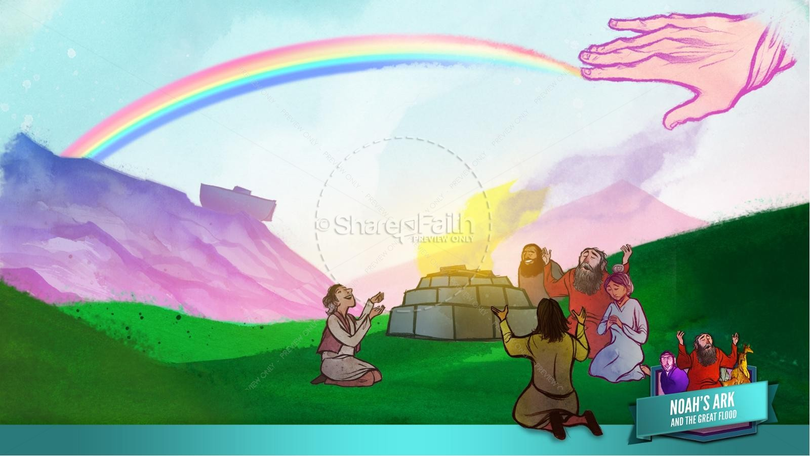 Noah's Ark Kids Bible Lesson | slide 49