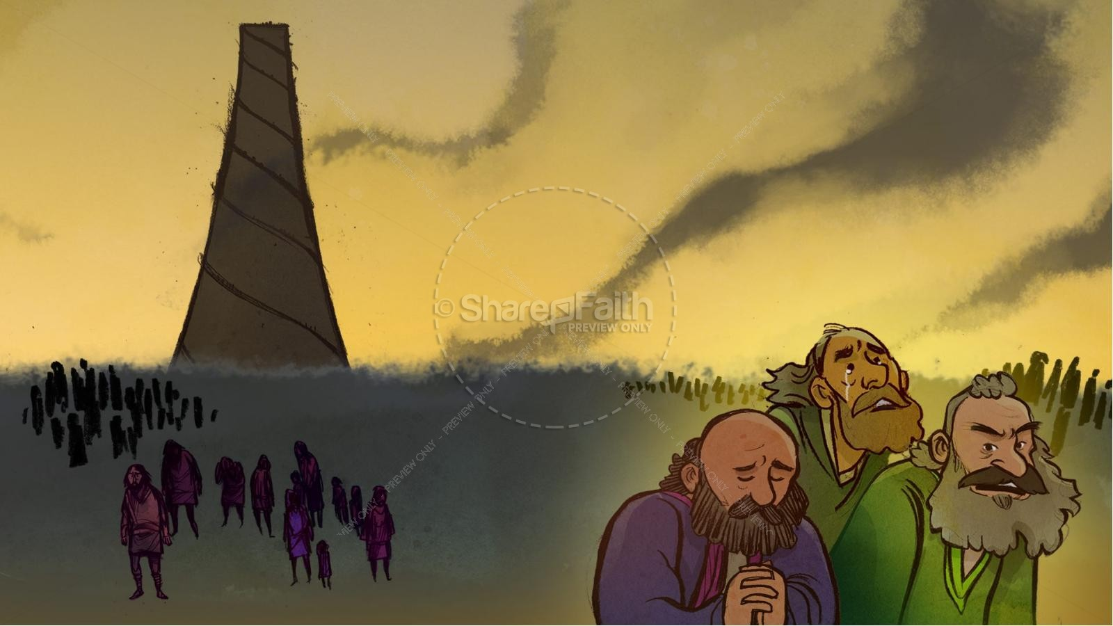 Tower of Babel Bible Story For Kids