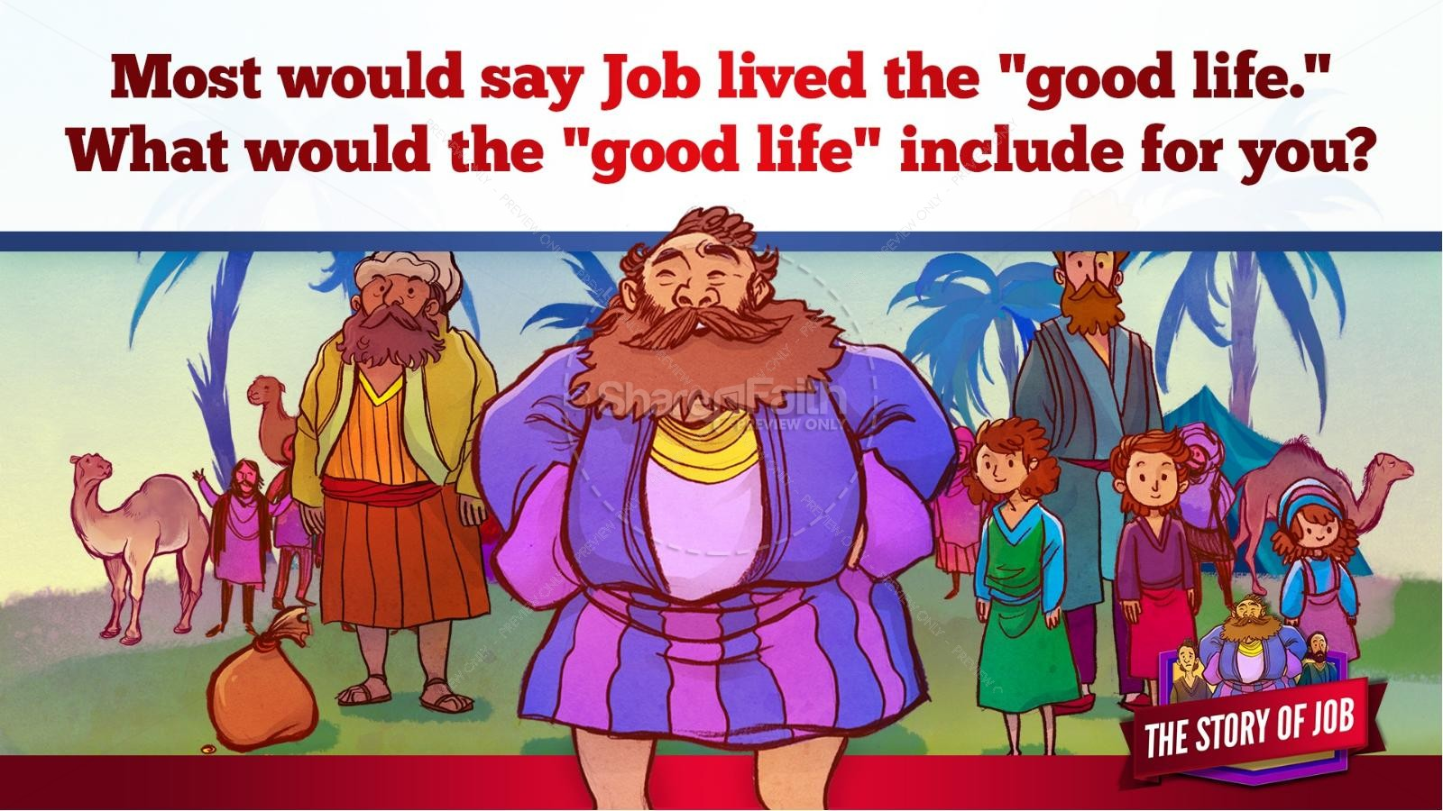 The Story of Job Kids Bible Lesson