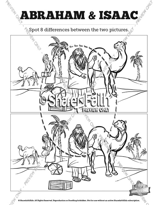 The Story Of Abraham And Isaac Kids Spot The Difference
