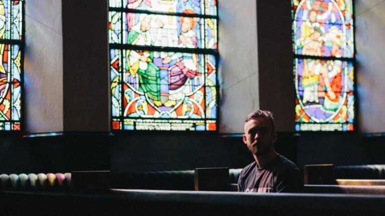 Millennials in the Church Religious Stock Photo