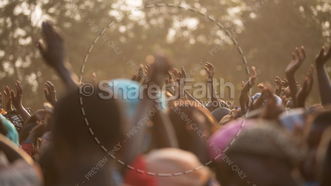 Outdoor Praise and Worship Christian Stock Photo