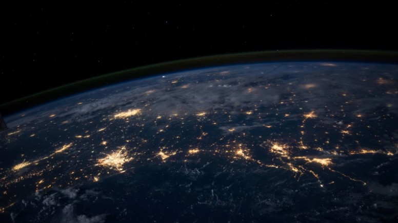 Light of the World from Space Christian Stock Photo