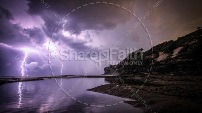 Lightning Storm Religious Stock Photo