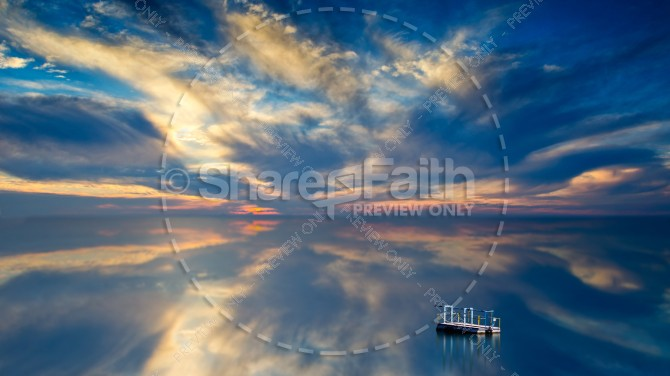 Clouds Reflection in the Water Religious Stock Photo