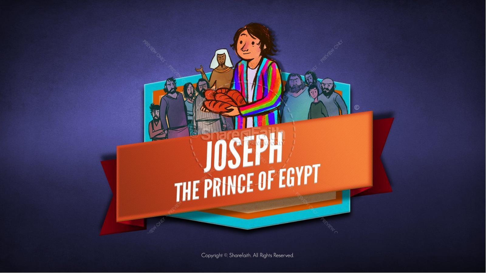 The Story Joseph the Prince of Egypt Kids Bible Lesson | slide 1
