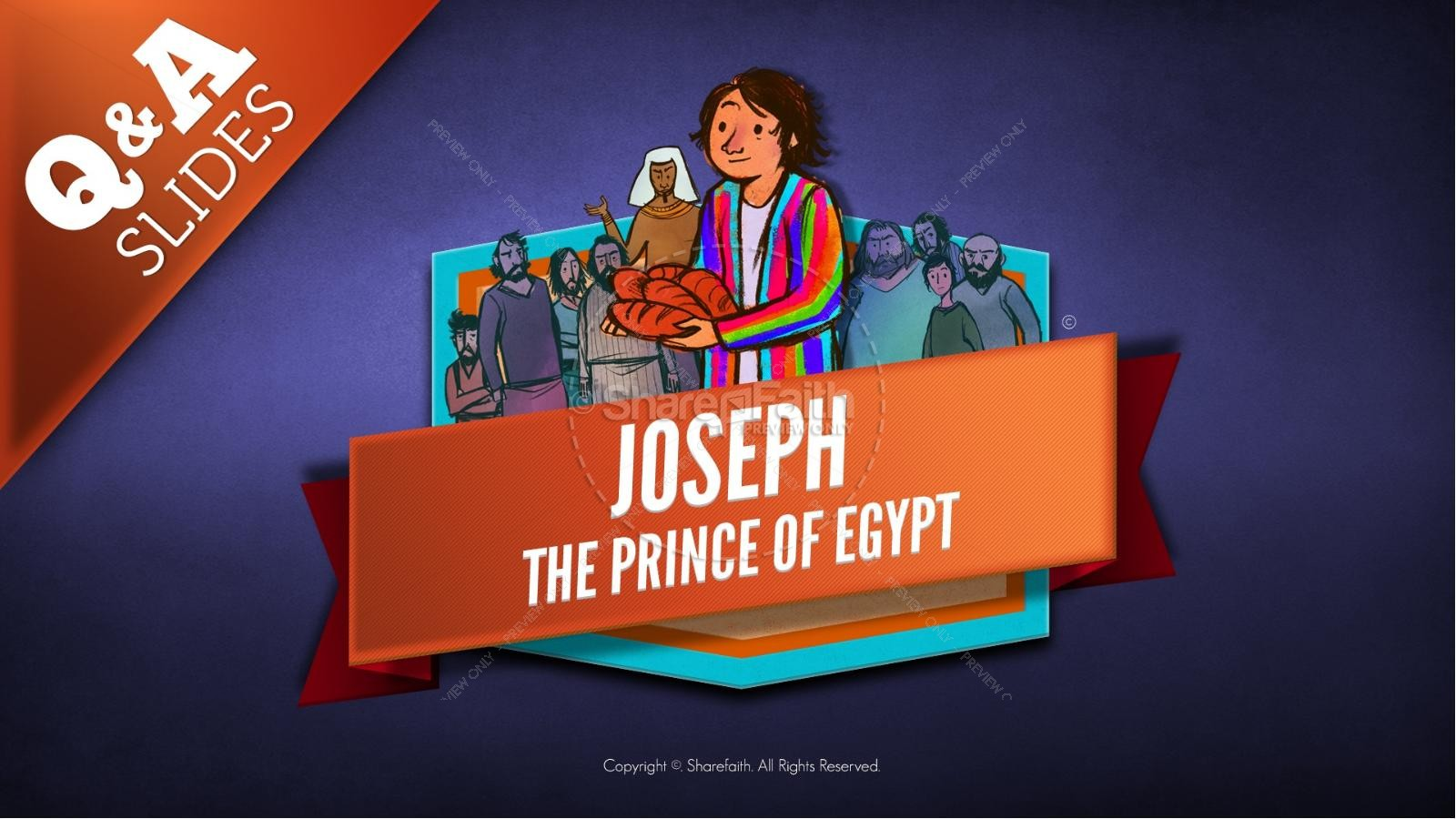 The Story Joseph the Prince of Egypt Kids Bible Lesson | slide 14
