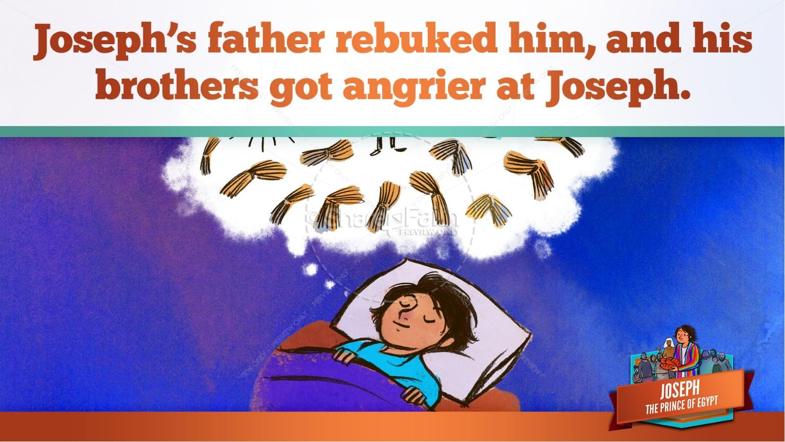 The Story Joseph the Prince of Egypt Kids Bible Lesson | slide 21