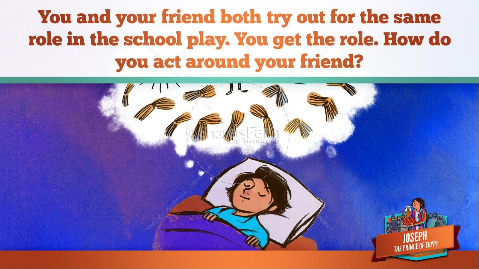 The Story Joseph the Prince of Egypt Kids Bible Lesson | slide 22