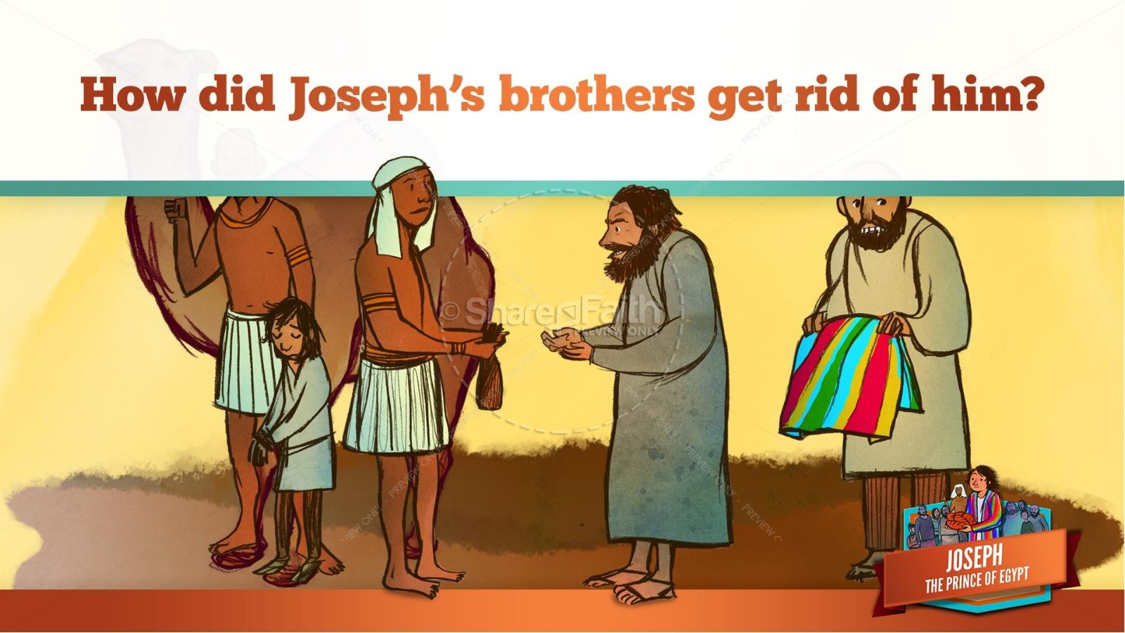 The Story Joseph the Prince of Egypt Kids Bible Lesson | slide 24