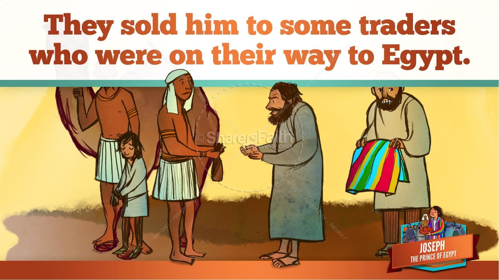 The Story Joseph the Prince of Egypt Kids Bible Lesson | slide 25