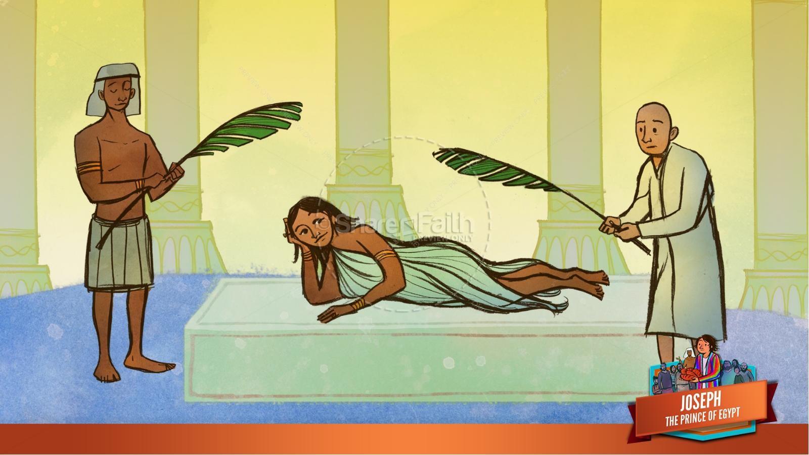 The Story Joseph the Prince of Egypt Kids Bible Lesson | slide 27