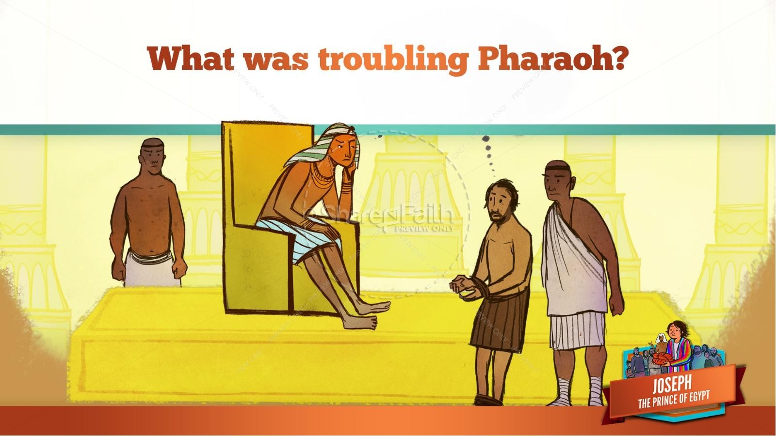 The Story Joseph the Prince of Egypt Kids Bible Lesson | slide 36