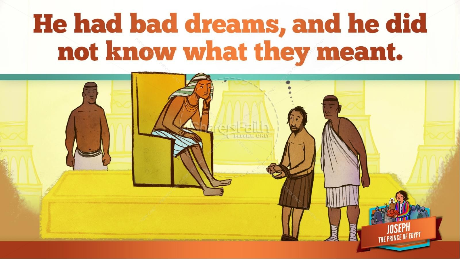 The Story Joseph the Prince of Egypt Kids Bible Lesson | slide 37